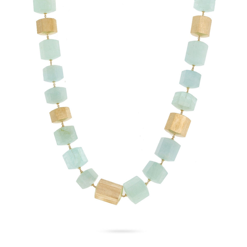 Marco Bicego® Unico 18K Yellow Gold and Aquamarine Necklace