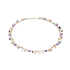 Marco Bicego® Paradise Collection 18K Yellow Gold Amethyst and Mixed Gemstone Single Strand Necklace image 1