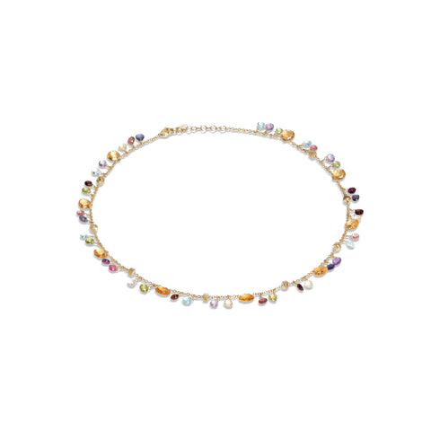 Marco Bicego® Paradise Collection 18K Yellow Gold Citrine and Mixed Gemstone Single Strand Necklace