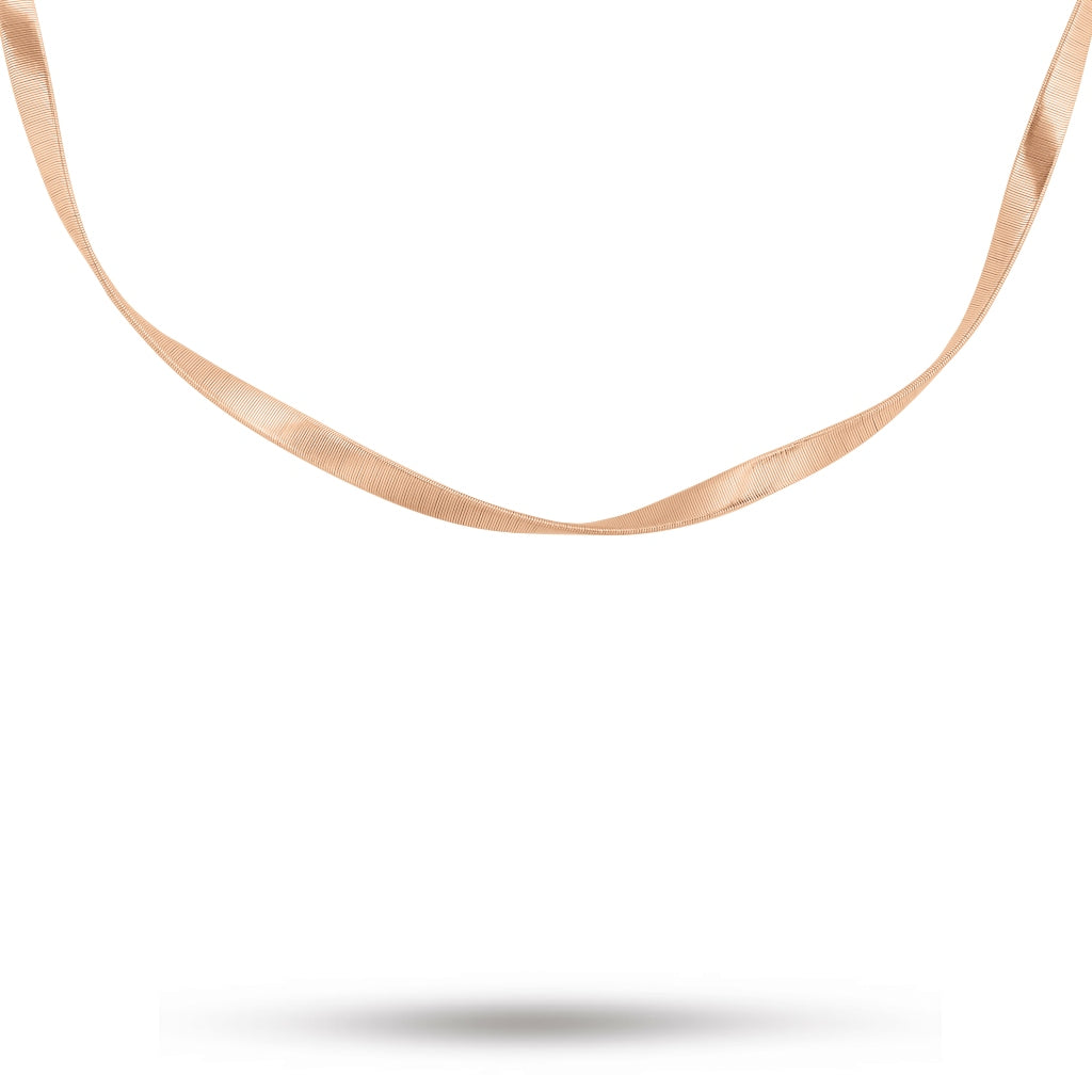 Marco Bicego® Marrakech Collection 18K Rose Gold 4.8mm Single Strand Necklace