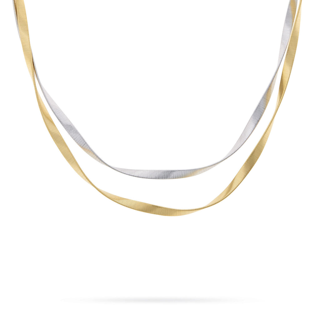 Marrakech Supreme Yellow & White Gold Two Strand Necklace