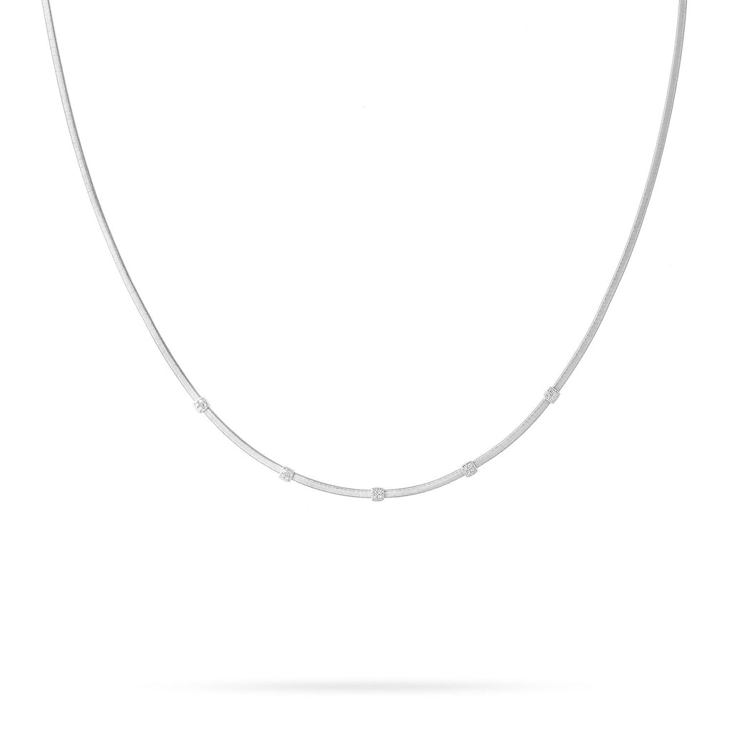 NEW - Masai Five Station Diamond Necklace in White Gold