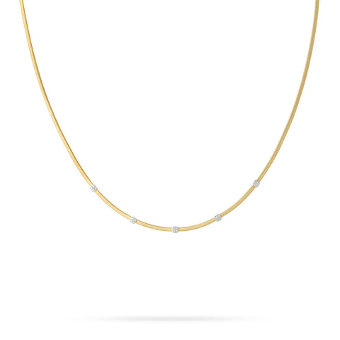Masai Five Station Diamond Necklace in Yellow Gold
