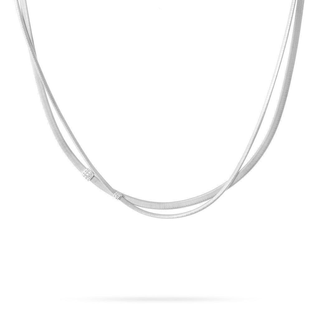 NEW - Masai Two Strand Diamond Necklace in White Gold