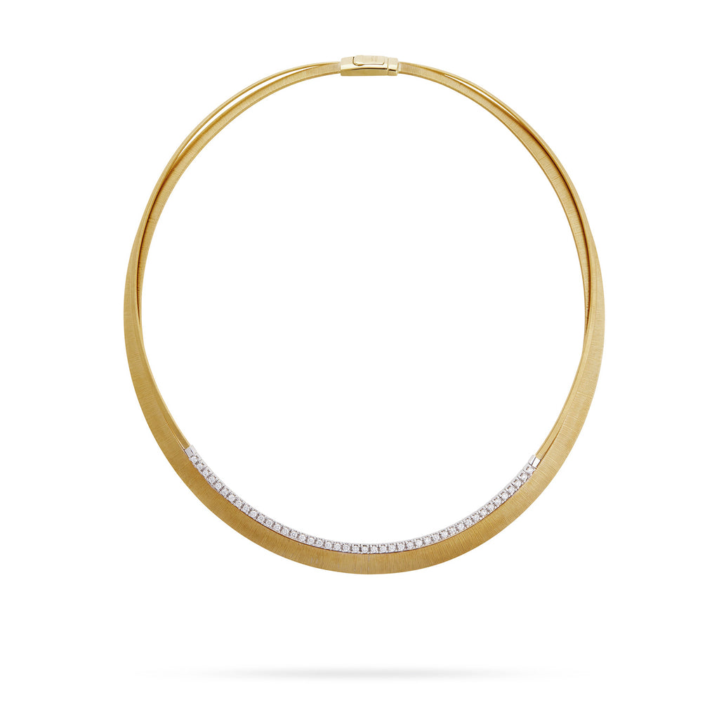 Marco Bicego® Masai Collection 18K Yellow Gold and Diamond Two Strand Necklace