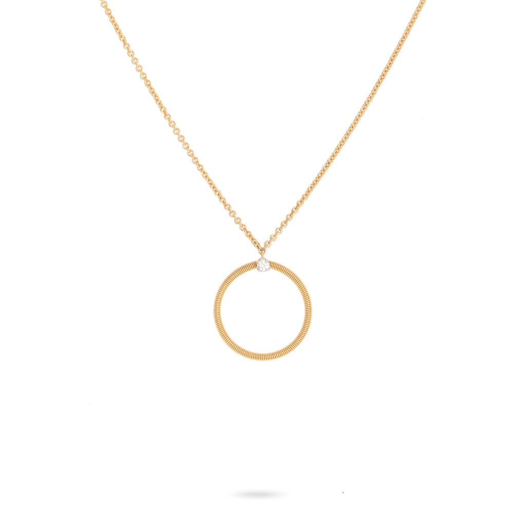 Marco Bicego® Bi49 Collection 18K Yellow Gold and Diamond Large Circle Necklace