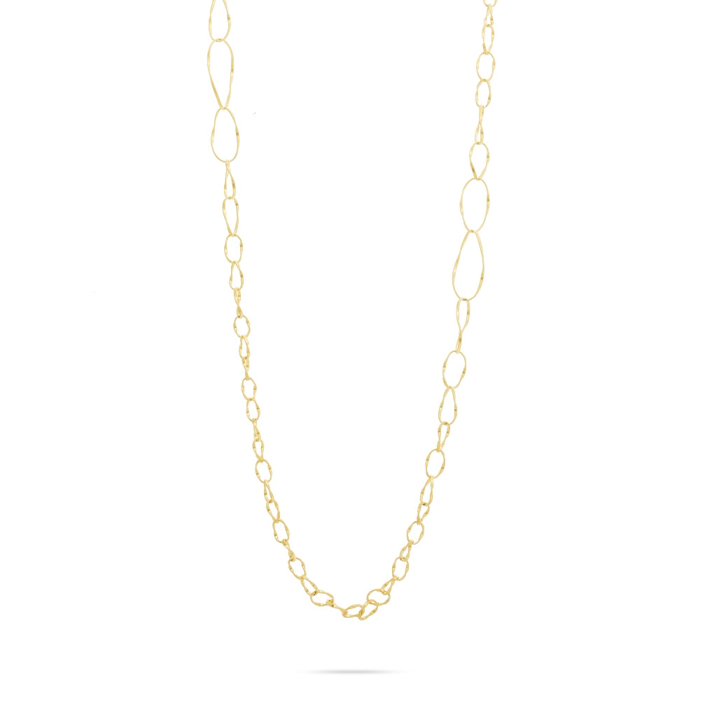 Marco Bicego® Marrakech Onde Collection 18K Yellow Gold Alternating Link Necklace