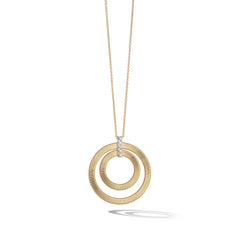 Marco Bicego® Masai Collection 18K Yellow Gold and Diamond Double Circle Long Necklace image 0
