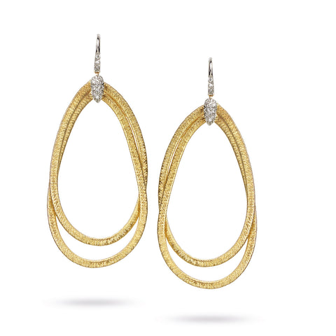 Marco Bicego® Cairo Collection 18K Yellow Gold and Diamond Large Drop Earrings