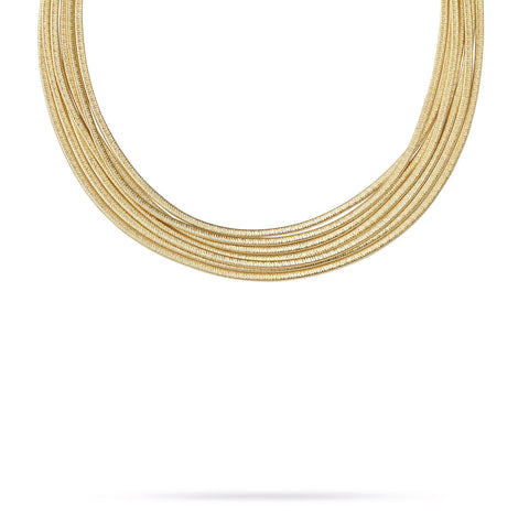 Cairo Gold Seven Strand Woven Necklace