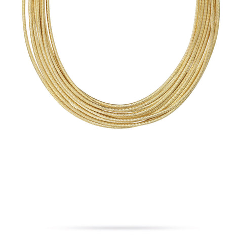 Cairo Gold Nine Strand Woven Necklace