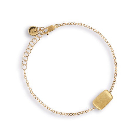 Delicati Gold Rectangle Bead Bracelet