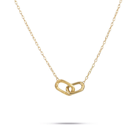 Delicati Gold Rectangle Link Pendant