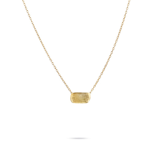 Delicati 18K Yellow Gold Rectangle Bead Pendant