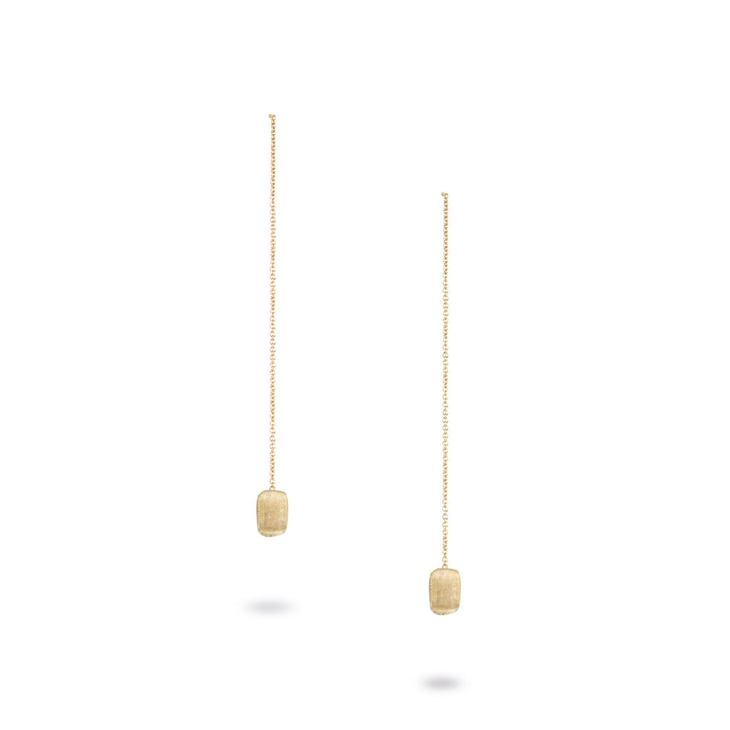 18K Gold Thread-Through Earrings