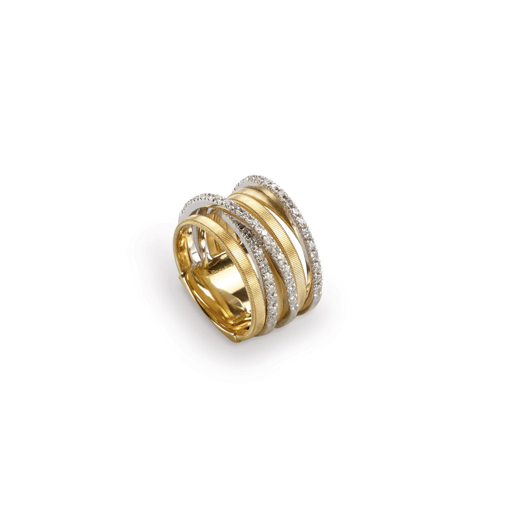 Marco Bicego Goa Five-Row Crossover Ring with Diamonds Z5bVHG