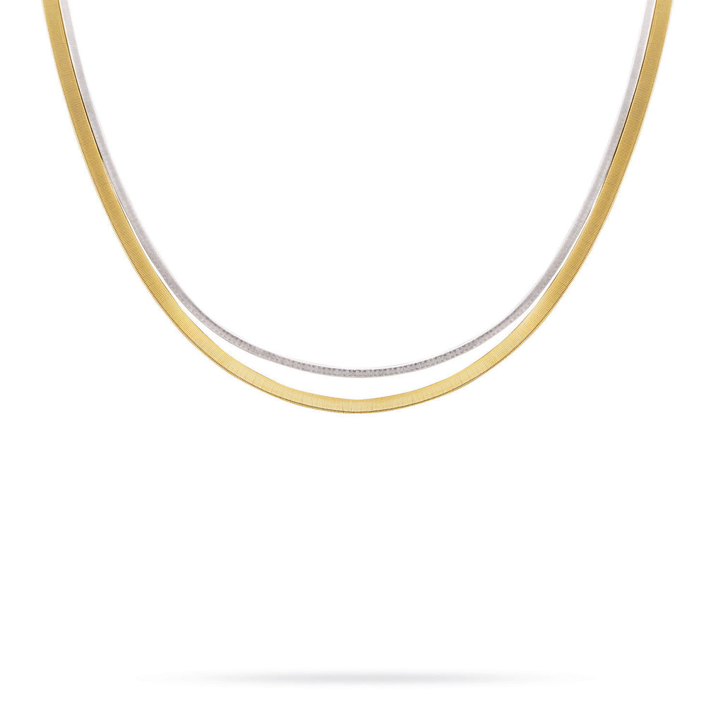 18K Gold Two Strand Necklace