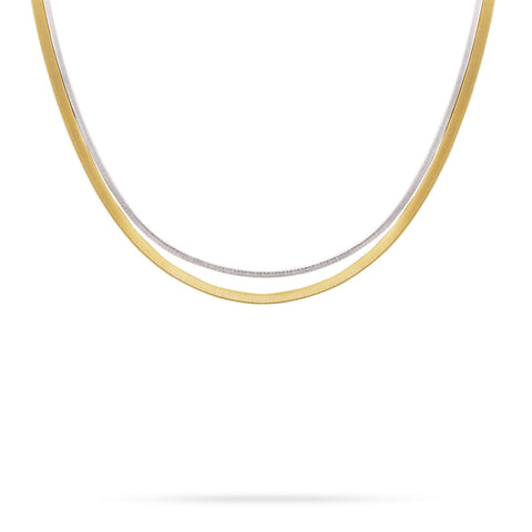 Marco Bicego® Masai Collection 18K Yellow and White Gold Two Strand Necklace