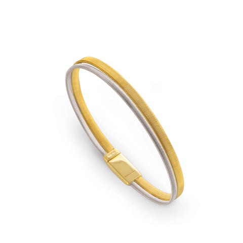Marco Bicego® Masai Collection 18K Yellow and White Gold Two Row Wide Bracelet