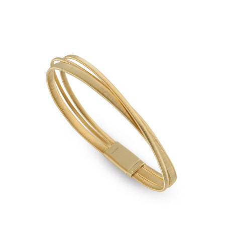 Marco Bicego® Masai Collection 18K Yellow Gold Three Row Crossover Bracelet