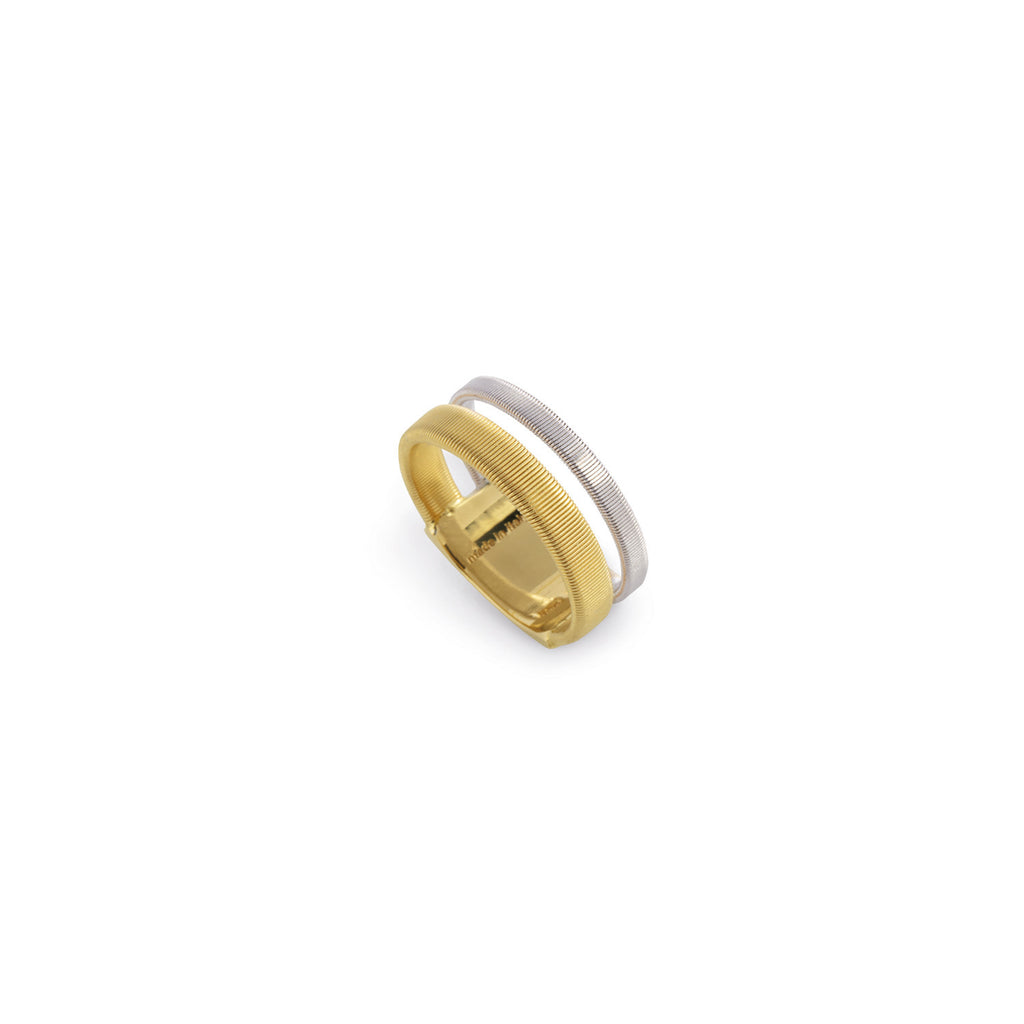 Masai Two Row Ring In Yellow & White Gold