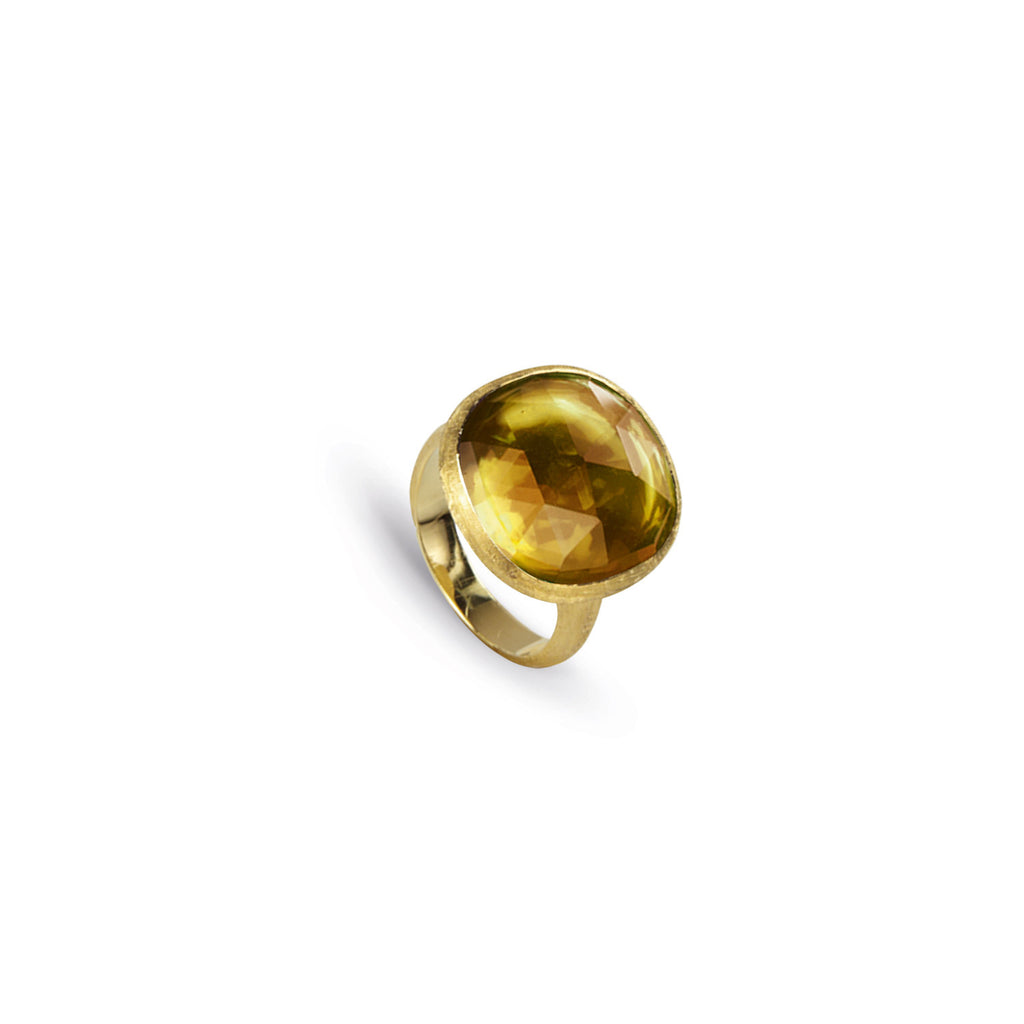 18K Gold Citrine Cocktail Ring