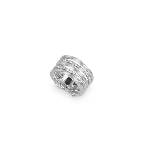 Jaipur Link 18K White Gold and Diamond Five Row Ring
