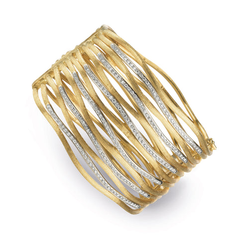 Jaipur Link Gold & Diamond Thirteen Row Cuff