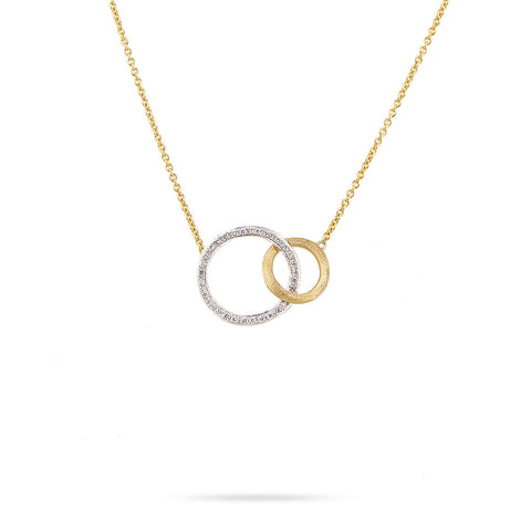 Jaipur Link 18K Yellow Gold and Diamond Medium Pendant