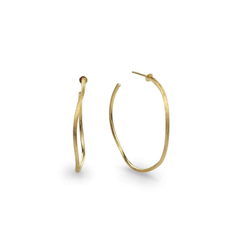 Jaipur Link Gold Medium Narrow Hoop Earrings