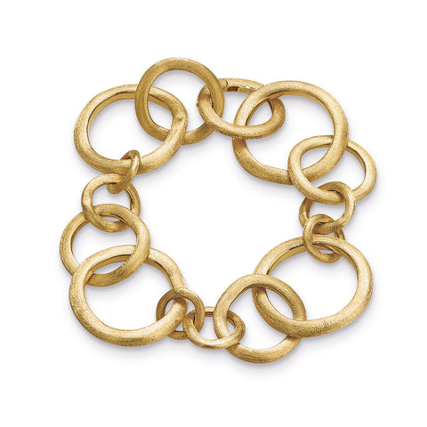 Jaipur Link 18K Yellow Gold Medium Gauge Bracelet