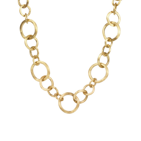Jaipur Link Gold Medium Gauge Necklace