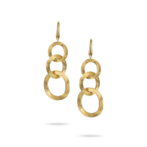 Jaipur Link Gold French Wire Drop Earrings