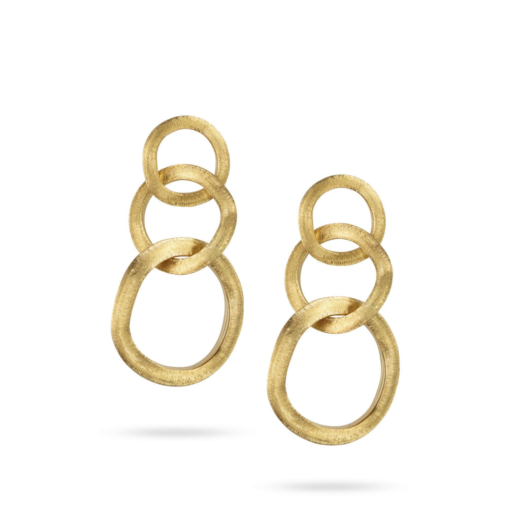 18K Gold Link Earrings