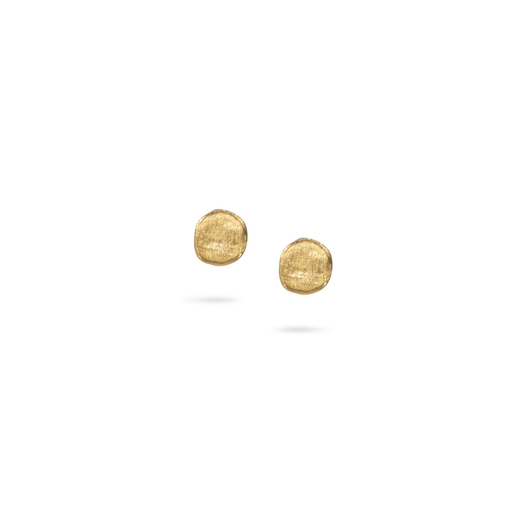 big large gold references stud earrings