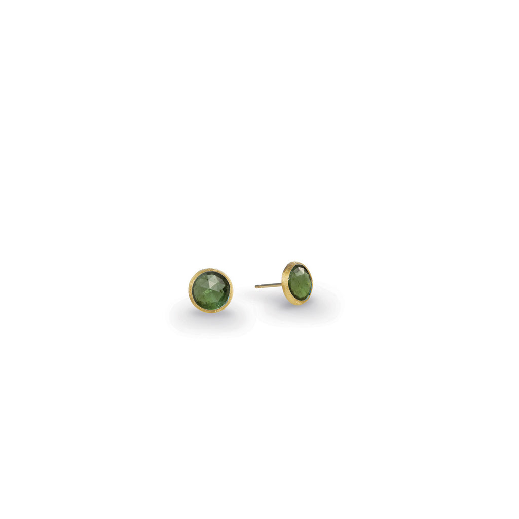 18K Gold Tourmaline Stud Earrings