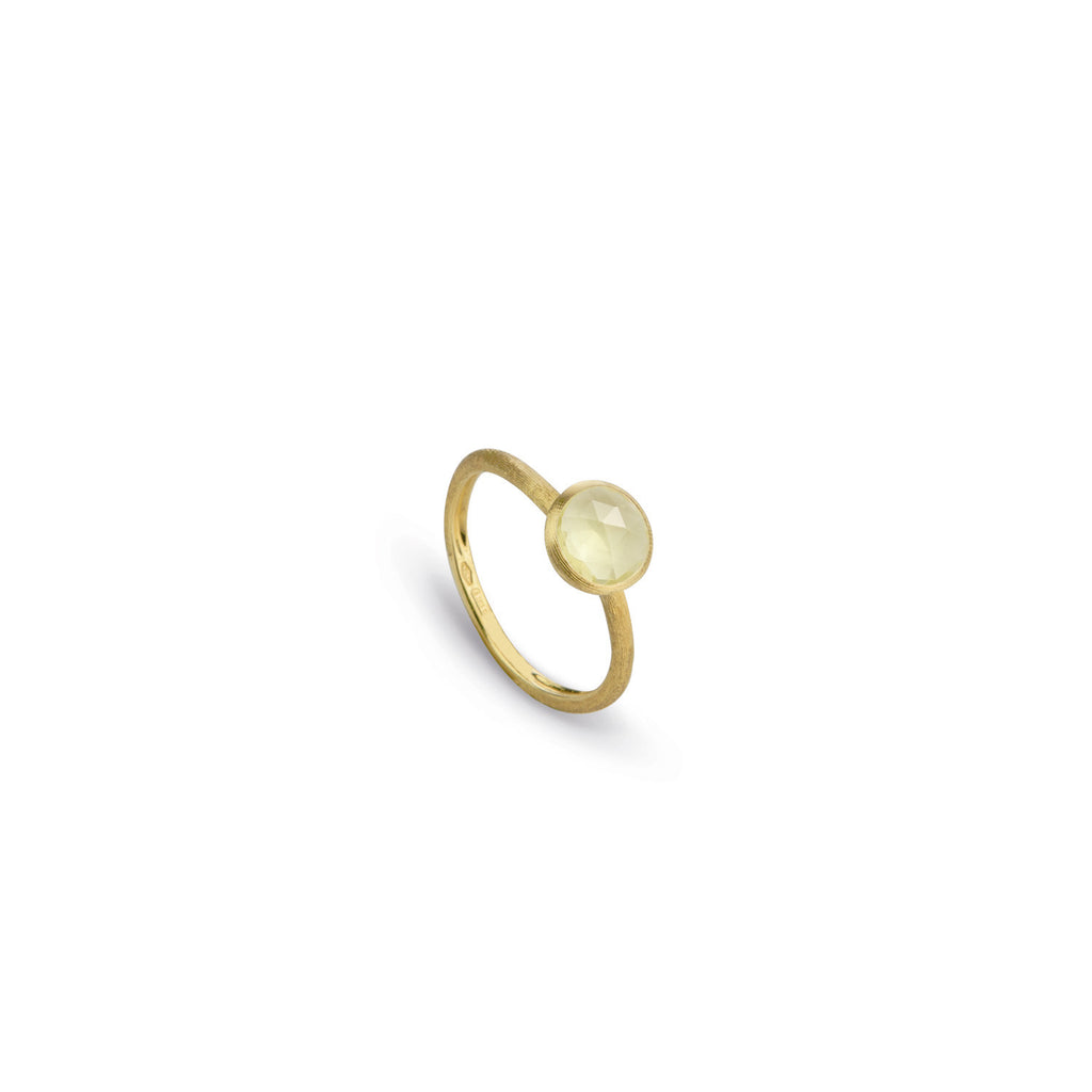 18K Gold Lemon Citrine Stackable Ring