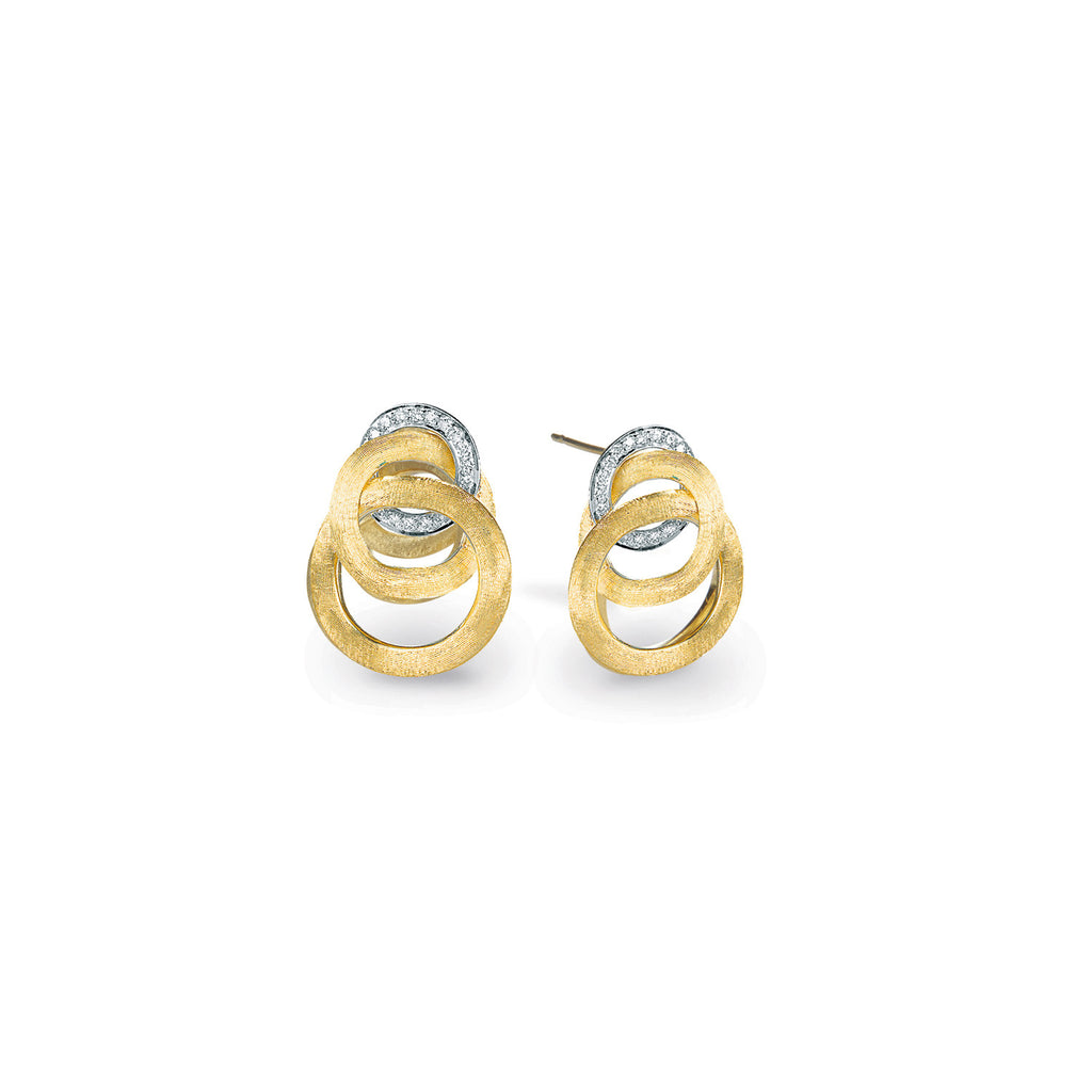 Jaipur Link Gold & Diamond Small Knot Earrings