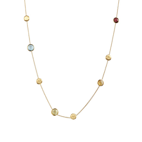 Jaipur Mixed Gemstones Long Necklace