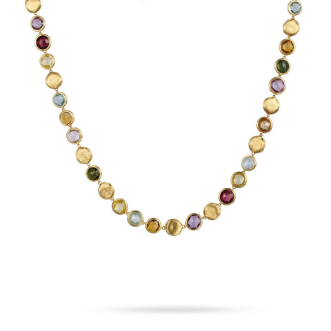 Marco Bicego® Jaipur Color Collection 18K Yellow Gold Mixed Gemstone Collar Necklace