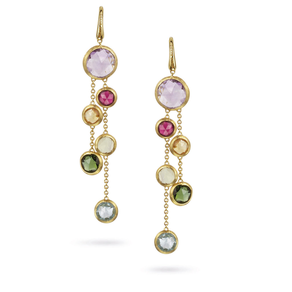 gemstone lyst fullscreen jewelry marco multicolored gold jaipur bicego yellow drop view multigold earrings