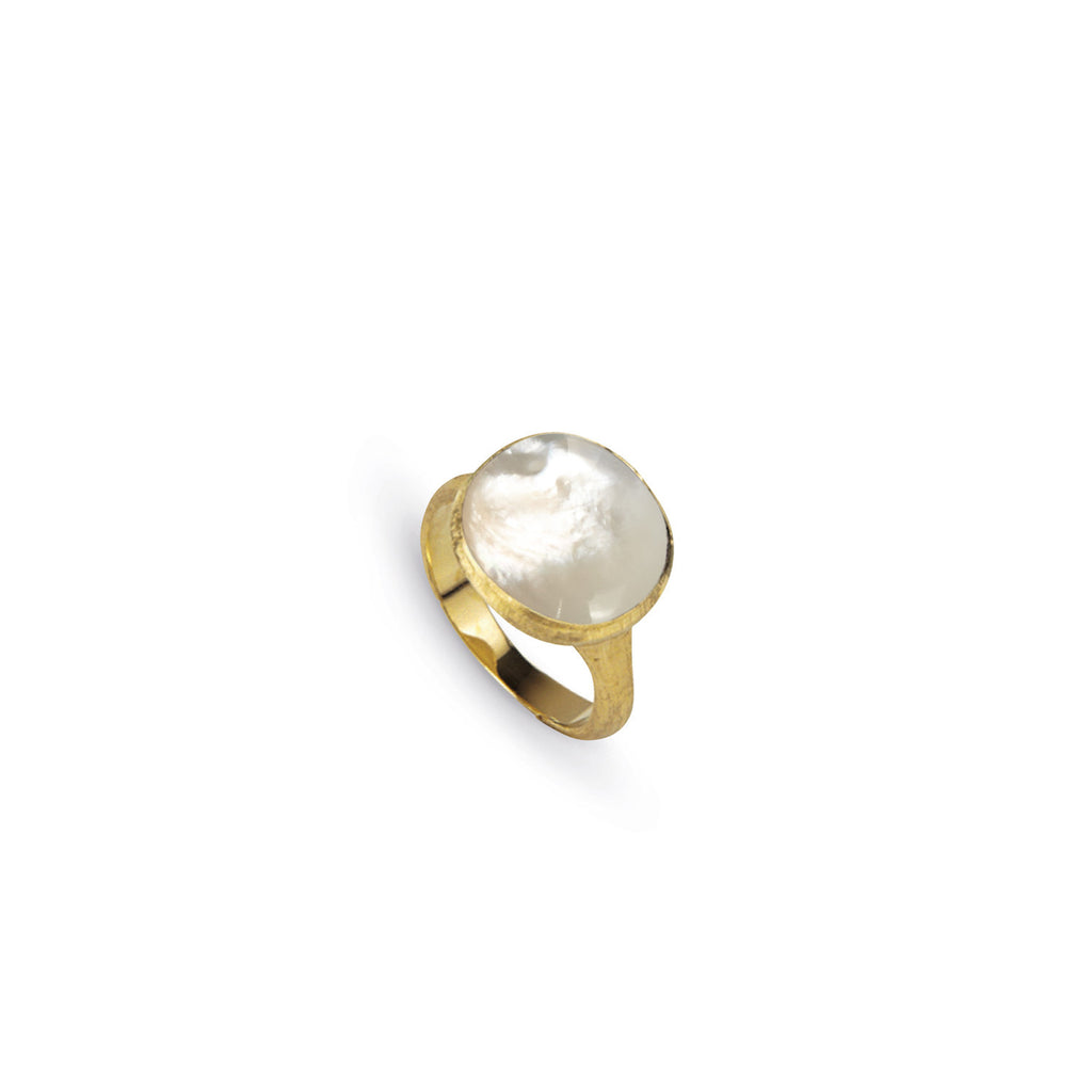 18K Gold Mother Of Pearl Cocktail Ring