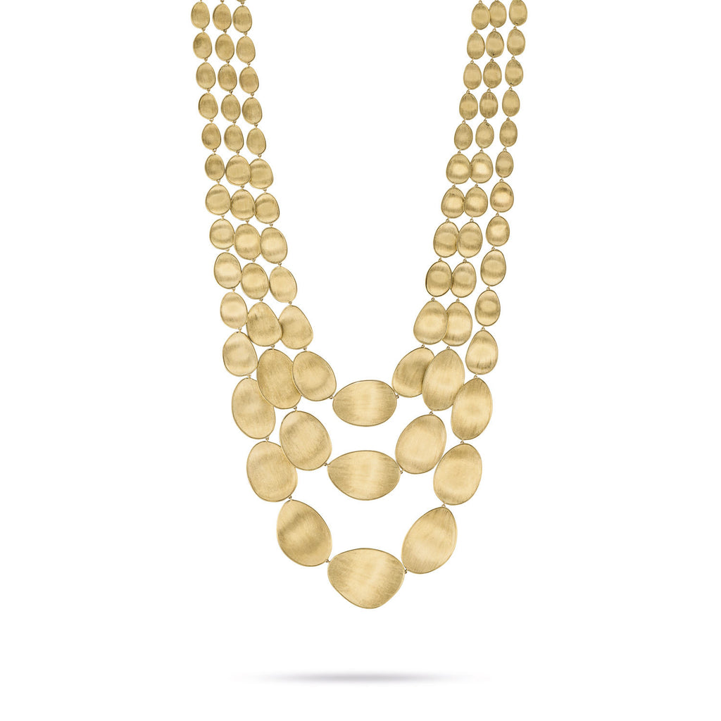 18K Gold Three Strand Necklace