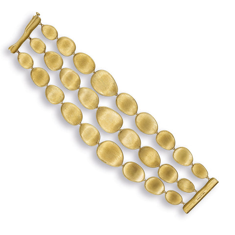 Lunaria Gold Three Strand Bracelet
