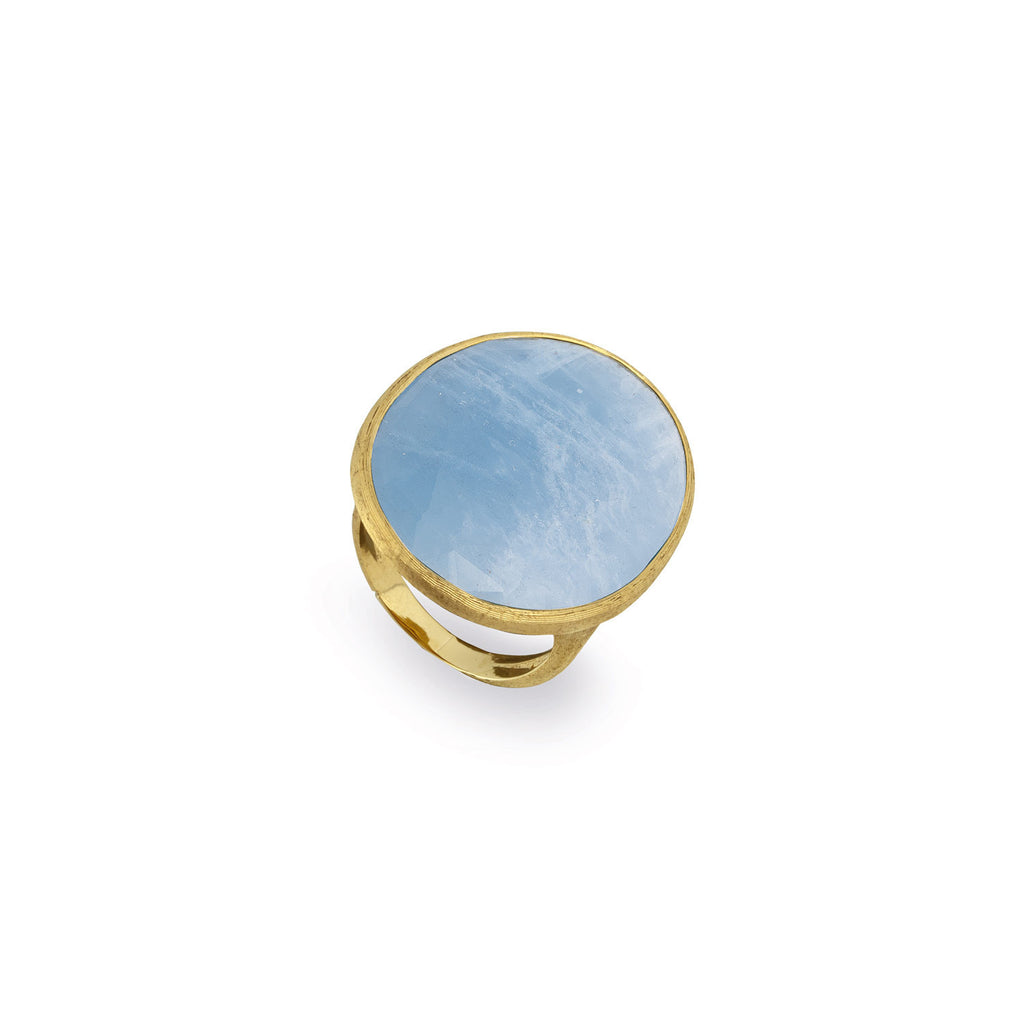 18K Gold Aquamarine Cocktail Ring