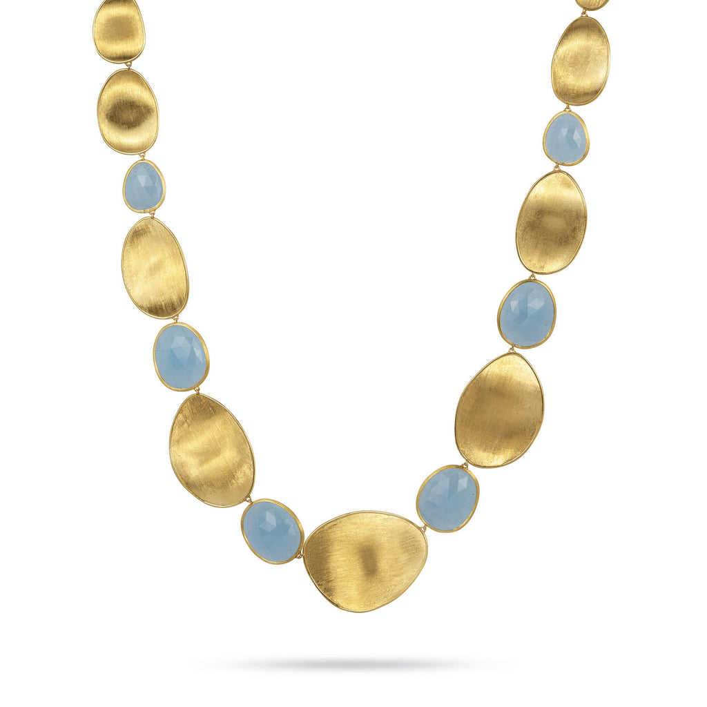18K Gold Aquamarine Necklace