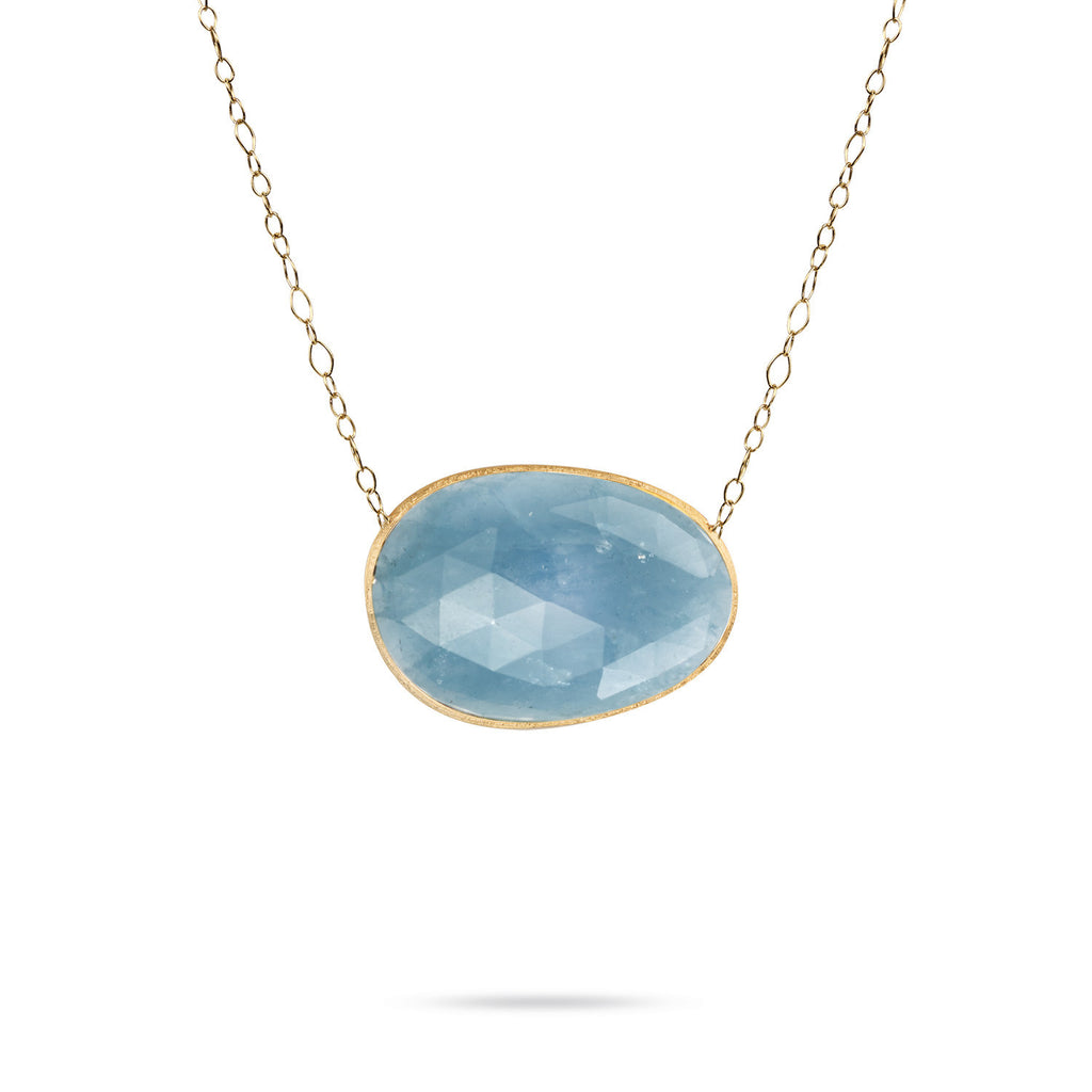 silver aqua pendant aquamarine in sapphire created sterling white marine with