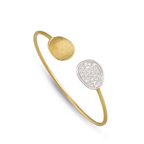 Lunaria Gold & Diamond Pave Kissing Bangle