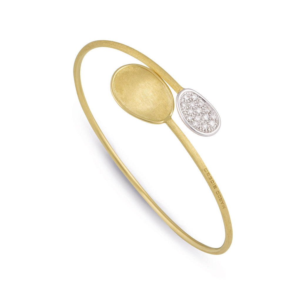 18K Gold & Diamond Bangle