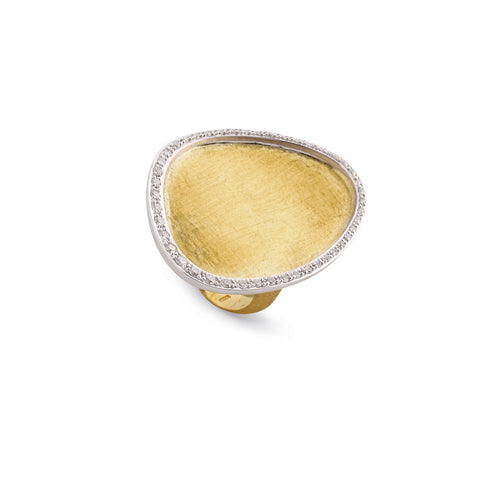 Lunaria Gold & Diamond Pave Cocktail Ring